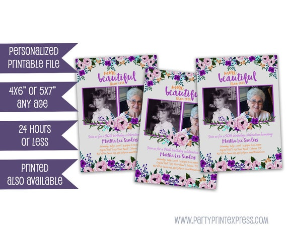 Printable lavender purple birthday invitations floral woman il570xn filmwisefo