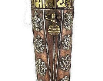 DOOR INCENSE Buddhist Tibetan deity manjushri, copper auspicious signs and brass, beti1