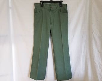 Vintage Lion Uniform Trousers Jeans Army Green Industrial Work Pants  35  34 x 30