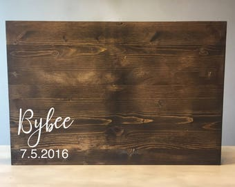 Wedding guest book alternative, Wood wedding guest book, wood guest book, Rustic wedding guest book, Wooden guest book, wedding guest book
