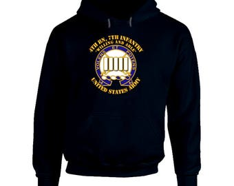 Army - 4th Bn, 7th Infantry - Willing And Able Hoodie