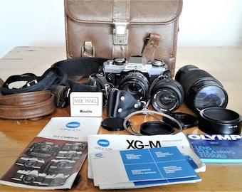 Vintage Minolta X G M Camera  Model Lense No. Lense M D 50mm 1:2 1980's