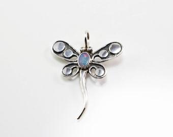 Balinese Opal/Peridot Dragonfly Pendant