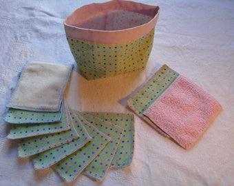 10 wipes BIO: GOTS certified cotton micro-eponge