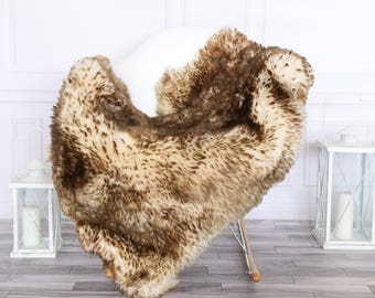 Sheepskin Rug | Real Sheepskin Rug | Shaggy Rug | Chair Cover | Sheepskin Throw | Brown  Sheepskin | #HERSEPT9