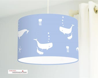Lampshade - whales - favorite color