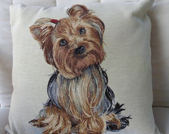 Little Yorkie Tapestry Cushion Cover