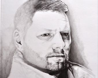 PORTRAIT pencil charcoal drawings of the photo