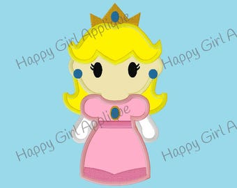 Mario Brothers - Princess Peach Applique