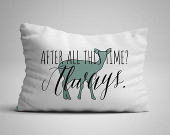 Harry Potter Nursery Decor - Harry Potter Quote | After All This Time? Always | Lumbar Pillow Harry Potter Gifts | Harry Potter Home Decor