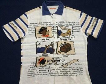 ON SALE 26% Vintage Jc De Castelbajac Polo Sports Hip Hop Pop Art Designer size 4 90s shirt