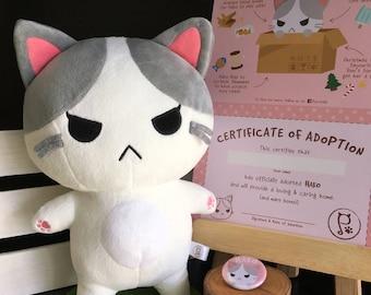 Purrballs Hako Adoption Kit / Plush Toy