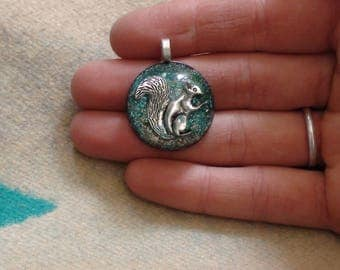 Squirrel Totem Inner-child Spirit Forest Guardian Soul-Antenna Ormus Orgone Crystal Energy Unisex Pendant Necklace 27mm Dome Courage Balance