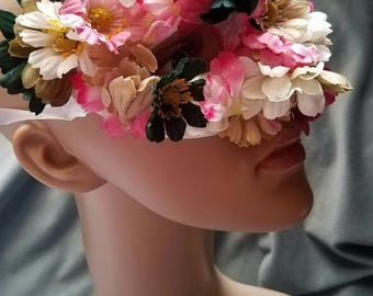Flower Mask Fairy Costume Eye Mask Halloween Masquerade Nature Eye Mask