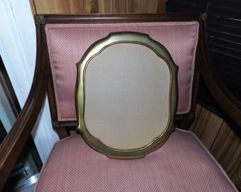 Vintage, Gold Metal Frame, Oval Frame, Home Decor, Art Nouveau, Gift for Her, French, Cottage Chic, Art Deco, Aluminum Frame, Regency, MCM