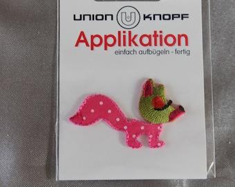 applique animal, Fox, pink, to, queuue, small, pea, coudr, or craft