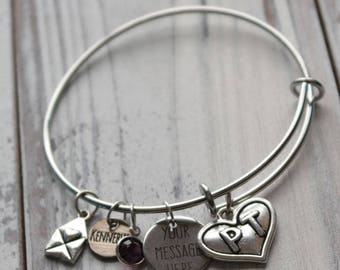 Physical Therapist Personalized Wire Adjustable Bangle Bracelet