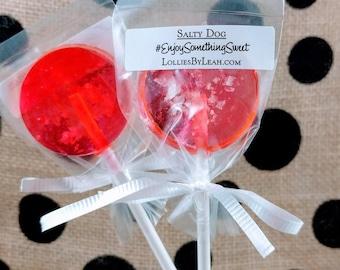 12 Salty Dog Lollipops - Salted Grapefruit