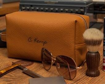 Mens toiletry bag gift for him gift for men groomsmen gift personalized gift travel bag groomsman gift men's toiletry bag personalized bag