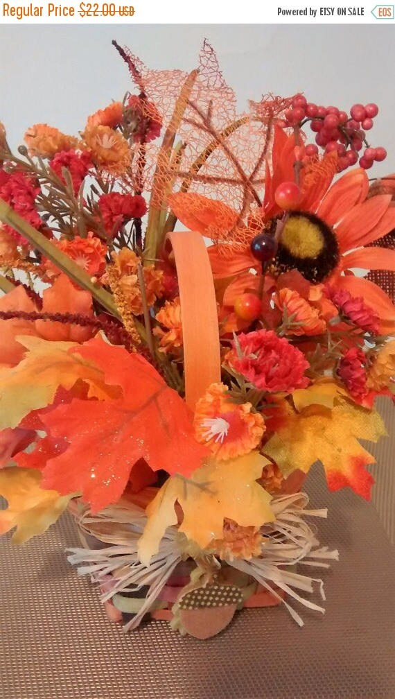 Sale Fall Floral Woven Basketfall Decor Fall Basket Kitchen