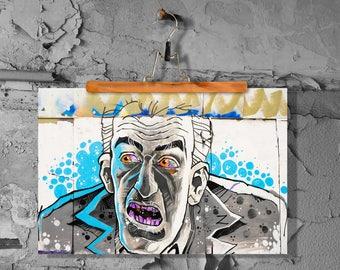 Graffiti zombie fine art print poster matt 60 x 90