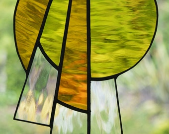 Abstract Design Stained Glass Suncatcher