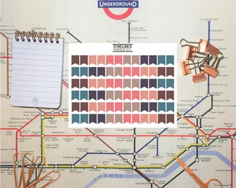 Earthy Neutrals Mini Flag Stickers for Erin Condren // Happy Planner // Traveller's Notebook Pastel Sticker