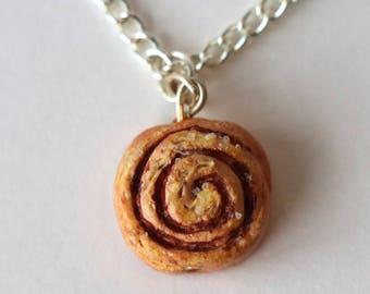 Cinnamon Roll Necklace