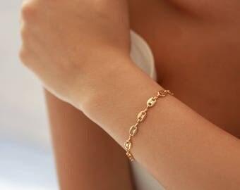 Gold Chain Bracelet • Delicate Gold Bracelet • Gift for Her