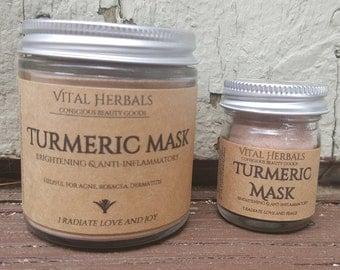 Turmeric face mask - face mask  - acne mask  - rosacea - face scrub