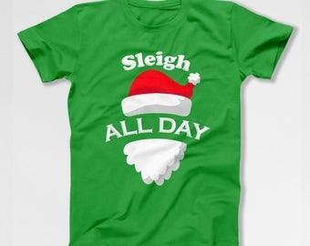 Funny Christmas Shirt Santa Claus T Shirt Christmas Present Ideas Gifts For Xmas Outfits Holiday T Shirts Christmas Humor X-Mas TEP-510