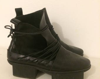 Trippen Black Leather Lace Boot
