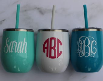 Personalized Insulated Tumblers (with a straw!)