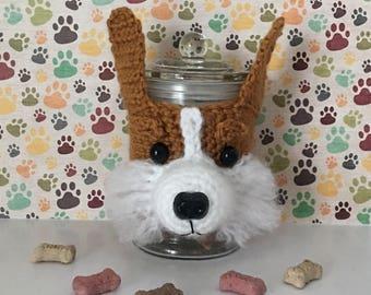 Corgi Addict - Corgi Birthday - Welsh Corgi - Dog Treat Jar - Corgi Rescue - Funny Corgi - Corgies - Crazy Dog Lady - Corgi Things - Corgi