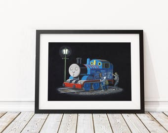 Thomas by Banksy Art Print
