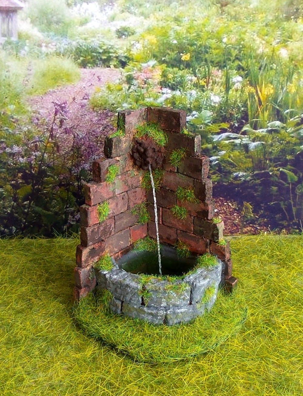 Miniatuur muur fontein miniatuur bakstenen muur accessoire - Decoratie jardin terras ...