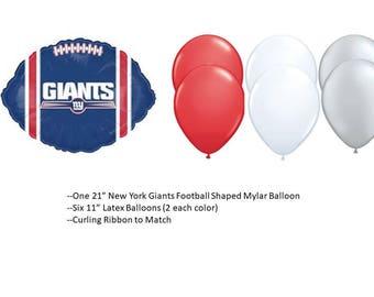 New York Giants balloons