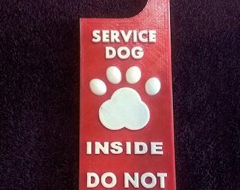 Service Dog Inside Door Hanger
