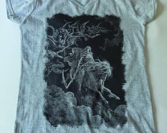 Ladies SHIRT Gustave Dore // Death On The Pale Horse // Emperor Black Metal