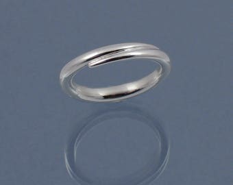 Double taper ring in 925 sterling silver