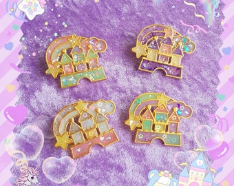Dream Castle resin brooch fairy kei yumekawaii