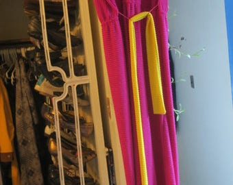 Vintage JCPenney Terrycloth pink/yellow long dress