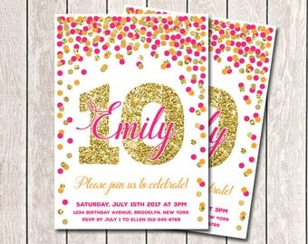 girls birthday etsy - Girl Birthday Party Invitations