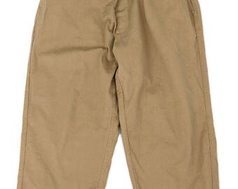 Greek military wide chino pants/remake/Greece/remade/1980's/beige/for women/483