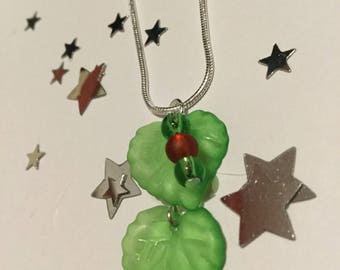 Handmade Poison Ivy necklace!