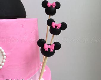 Mouse Head on Skewers Cake Decorations (6)