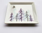 Jewelry Dish, Mountain Art, Outdoor Ring Dish, Bridal Party, Bridesmaid Gift, Gift for Skier, Wedding, Gift for Hiker Woman, Tree decor, pnw