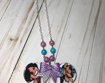 Aladdin Mickey Ears Necklace