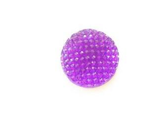 Shine flat 16mm cabochon resin - purple