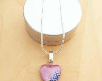CLEARANCE! Purple flower necklace